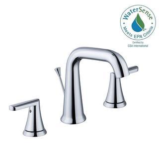 Schon Jax 8 in. Widespread 2-Handle High-Arc Bathroom Faucet in Chrome