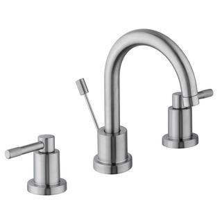 Schon Axel 8 in. Widespread 2-Handle High-Arc Bathroom Faucet in Brushed Nickel