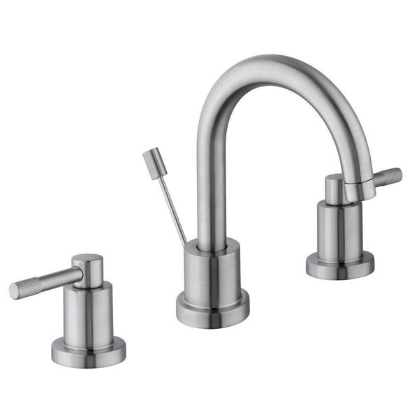 Schon axel 8 in widespread 2 handle high arc bathroom for 8 bathroom faucet in brushed nickel