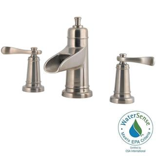 Pfister Ashfield 8 in. Widespread 2-Handle Bathroom Faucet in Brushed Nickel|https://ak1.ostkcdn.com/images/products/12887735/P19646596.jpg?impolicy=medium