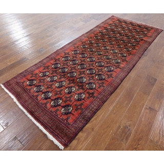 Oriental Persian Red Hand-knotted Wool rug (3'7 x 9'1)