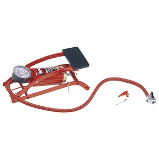 Custom Accessories 57777 Air Master Compact Foot Pump With Gauge