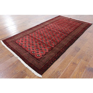 Red Wool Hand-knotted Oriental Persian Rug (4'5 x 8'6)