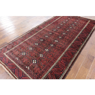 Black Wool Hand-knotted Oriental Persian Rug (4' 5 x 8' 10)
