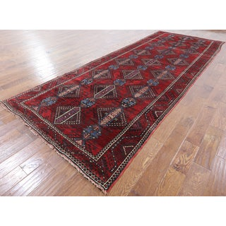 Red Wool Hand-knotted Oriental Persian Rug (5' 1 X 13' 2)