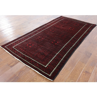 Red Wool Hand-knotted Oriental Persian Rug (4' 1 x 7' 9)