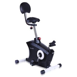 SereneLife Black/Silvertone Steel Home/Office Exercise Bike with Under-desk Pedaling Machine