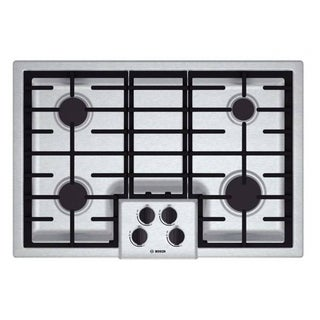 Bosch NGM5055UC 500 Series Silver Stainless Steel 30-inch Gas Cooktop