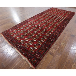 Oriental Persian Red Wool On Wool Hand-Knotted Rug (5'5 x 12'5)