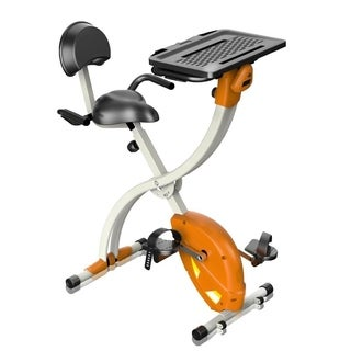 SereneLife SLXB2 Home/Office Upright Exercise Bike with Laptop Tray