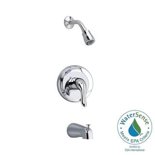 American Standard Colony Soft 1-Handle Tub and Shower Faucet Trim Kit in Satin-Nickel (Valve Sold Separately)