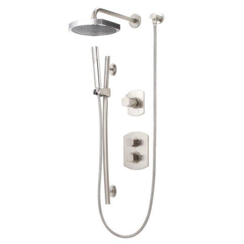 LaToscana Novello Combination 3 Handshower and Showerhead Combo Kit in Brushed Nickel