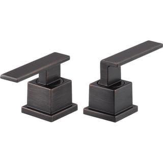 Delta Pair of Vero Lever Handles in Venetian Bronze for Bathroom Faucets