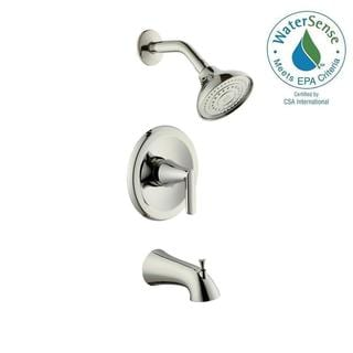 Hampton Polished Brass Two Handle Tub And Shower Faucet