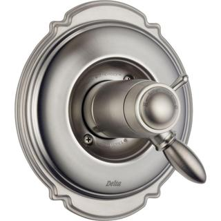 Delta Victorian TempAssure 17T Series 1-Handle Volume/Temp. Control Valve Trim Kit Only in Stainless (Valve Not Included)
