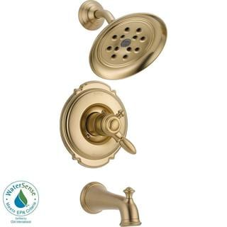 Delta Victorian 1-Handle H2Okinetic Tub and Shower Faucet Trim Kit in Champagne Bronze (Valve Not Included)