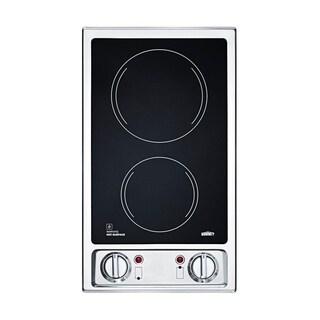 Summit Brands CR2B120 Built-in 2-Burner Electric Cooktop