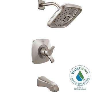 Delta Tesla H2Okinetic 1-Handle Tub and Shower Faucet Trim Kit in Stainless (Valve Not Included)
