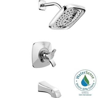 Delta Tesla H2Okinetic 1-Handle Tub and Shower Faucet Trim Kit in Chrome (Valve Not Included)