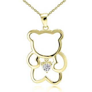 """Girls Ladies 925 Sterling Silver Solid Movable Teddy Bear Pendant 18/"""" Necklace"""