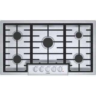 Bosch NGM8655UC 800 Series Silver Stainless Steel 36-inch Gas Cooktop|https://ak1.ostkcdn.com/images/products/12888044/P19646717.jpg?impolicy=medium
