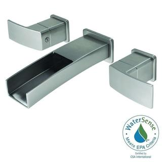 Pfister Kenzo 2-Handle Wall Mount Bathroom Faucet in Brushed Nickel