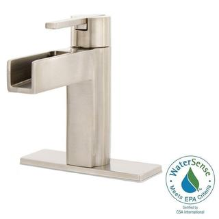 Link to Pfister Vega Single Hole Single-Handle Bathroom Faucet in Brushed Nickel Similar Items in Faucets