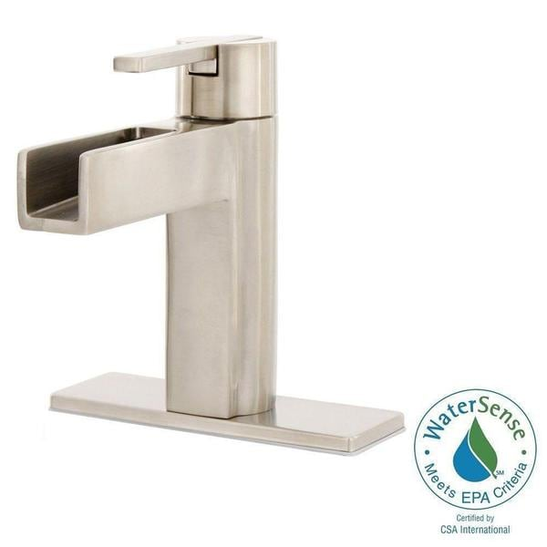 Pfister Vega Single Hole Handle Bathroom Faucet In Brushed Nickel