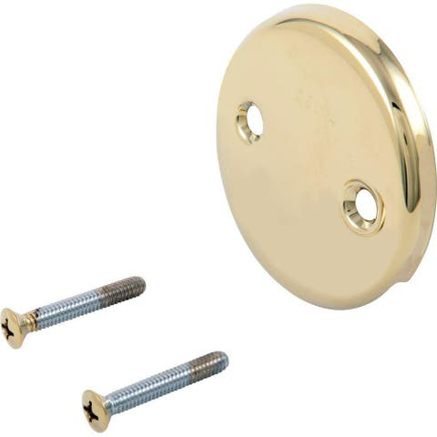 Delta Polished Brass Overflow Plate and Screws