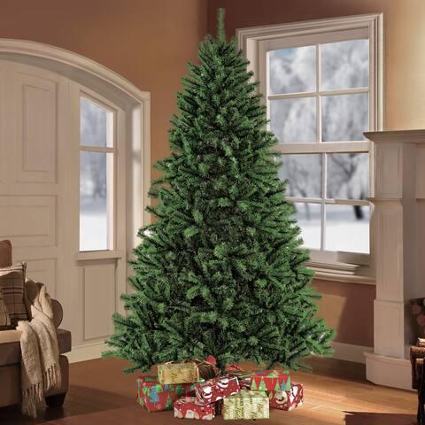 Puleo International 7.5-foot Northern Fir Artificial Unlit Christmas Tree
