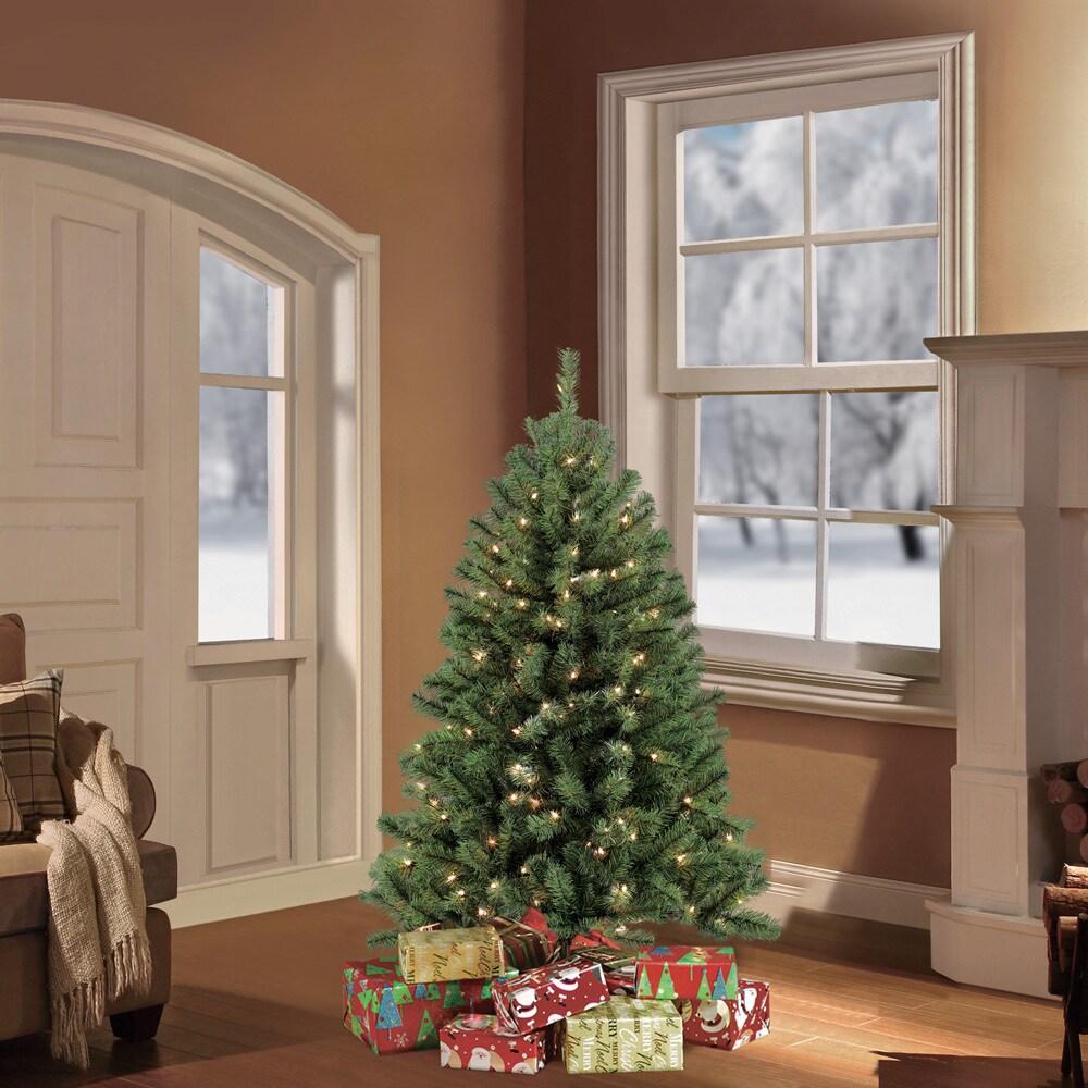 6ft Skinny Pre-Lit Hinged Artificial Fake Fir Christmas Tree 250 Lights Stand