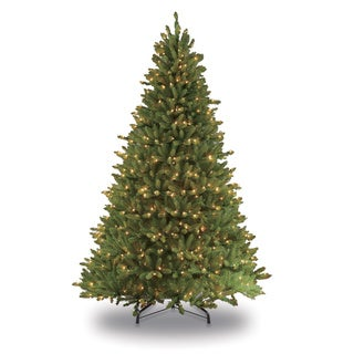 Puleo International 7.5-foot Pre-lit Fraser Fir Artificial Christmas Tree with 750 Clear Lights