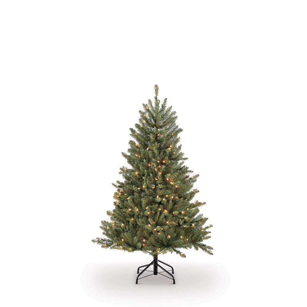 Puleo 4.5 ft. PreLit Fraser Fir Artificial Christmas Tree...
