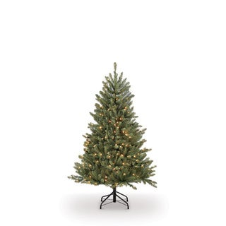 Puleo International 4.5 ft. PreLit Fraser Fir Artificial Christmas Tree with 250 Clear UL listed Lights