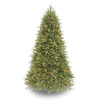 Puleo International Pre-lit Asheville Fir PE and PVC 7.5-foot Christmas Tree