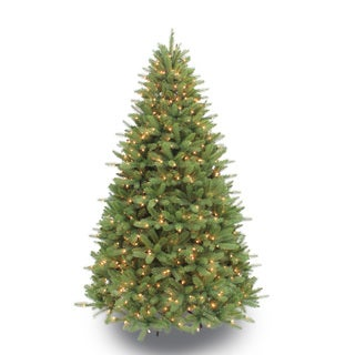 Puleo Tree Company 7.5-foot Pre-lit Douglas Fir Artificial Christmas Tree
