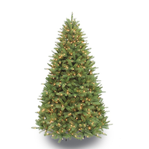 Artificial Christmas Tree Sale Home Depot: Shop Puleo International 7.5-foot Pre-lit Douglas Fir