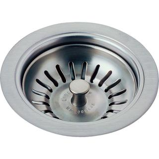 Delta 4-1/2 in. Kitchen Sink Flange and Strainer in Arctic Stainless 72010-AR
