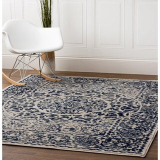 "Multicolored Nylon Machine-woven Greek Medallion Rug (3'3"" x 4'7"")"