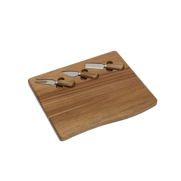 Lipper Acacia Serving Board with Tools