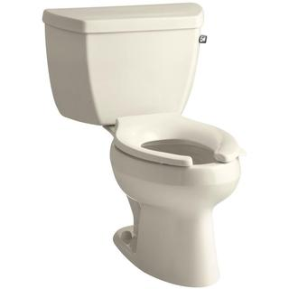 KOHLER Wellworth Classic 2-piece 1.6 GPF Single Flush Elongated Toilet in Almond