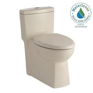 Schon 1-piece 1.28 GPF Dual Flush Elongated Toilet in Biscuit