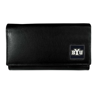 Women's NCAA BYU Cougars Sports Team Logo Leather Wallet
