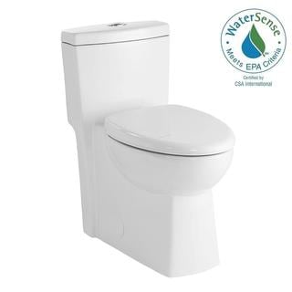 Schon 1-piece 1.28 GPF Dual Flush Elongated Toilet in White