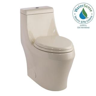 Schon 1-piece 1.28 GPF Single Flush Elongated Toilet in Biscuit