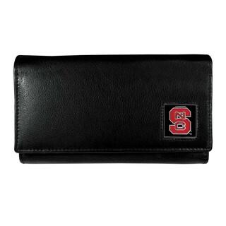 NCAA N. Carolina St. Wolfpack Women's Sports Team Logo Black Leather Wallet