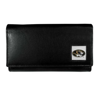 Missouri Tigers Team Logo Black Leather Women's Wallet
