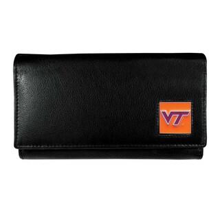 NCAA Virginia Tech Hokies Women's Sports Team Logo Leather Wallet