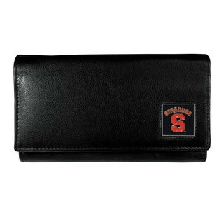 NCAA Syracuse Orange Women's Sports Team Logo Black Leather Wallet