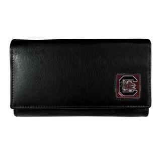 NCAA S. Carolina Gamecocks Sports Team Logo Black Leather Wallet